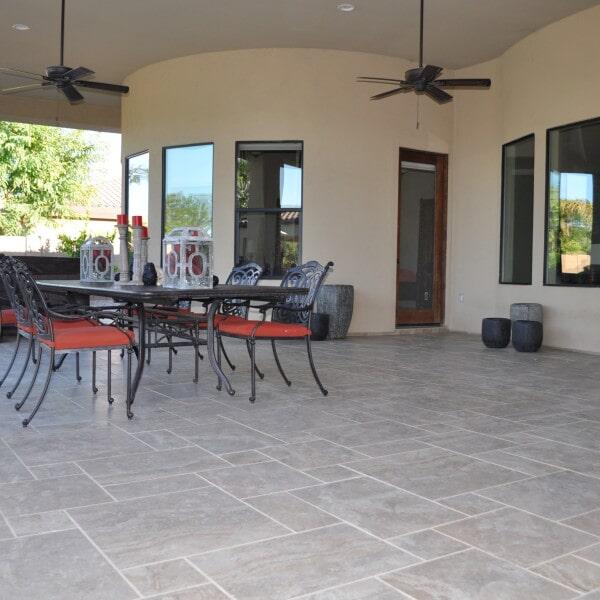 Large outdoor tile flooring in Chandler, AZ from Abel Carpet Tile & Wood