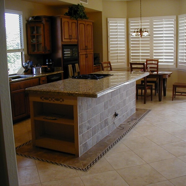 Kitchen with tile flooring in Queen Creek, AZ from Abel Carpet Tile & Wood