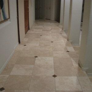 Tile flooring hallway in Gilbert, AZ from Abel Carpet Tile & Wood