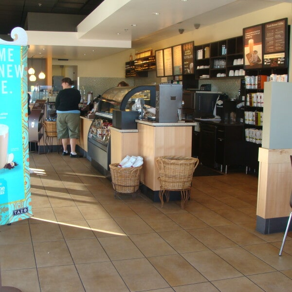 Starbucks tile flooring installation in Queen Creek, AZ from Abel Carpet Tile & Wood