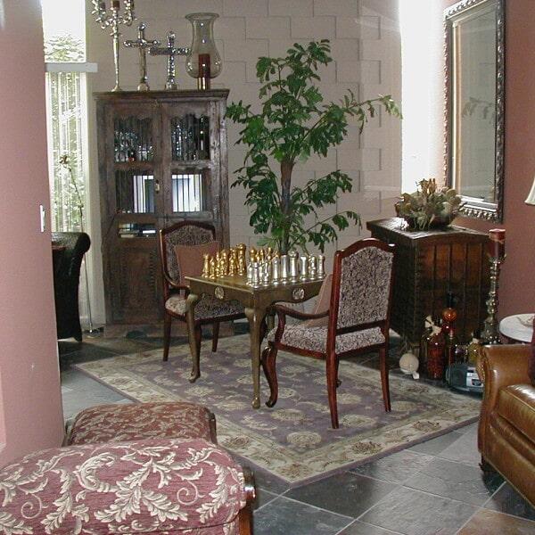 Sitting area tile flooring in Gilbert, AZ from Abel Carpet Tile & Wood