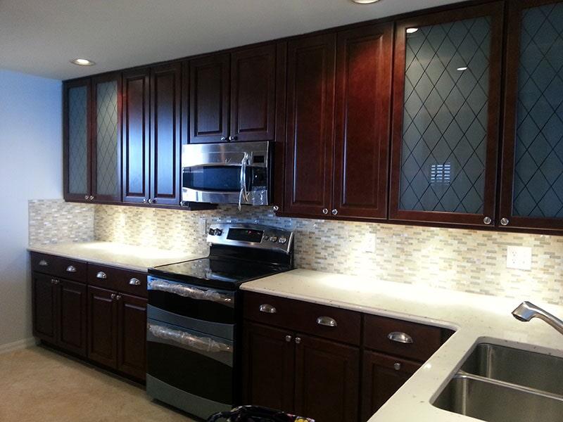Tile backsplash from Agler Kitchen, Bath & Floors in Jensen Beach, FL