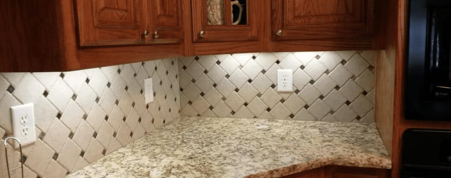 Tile backsplash from SJ FloorSolutions LLC in Irving, TX