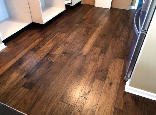 Gorgeous hardwood installation in Homer Township, IL from Marchio Tile & Carpet Inc.