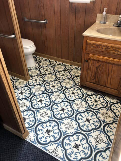 Ornate tile flooring in Hendersonville, TN from Absolute Flooring Inc
