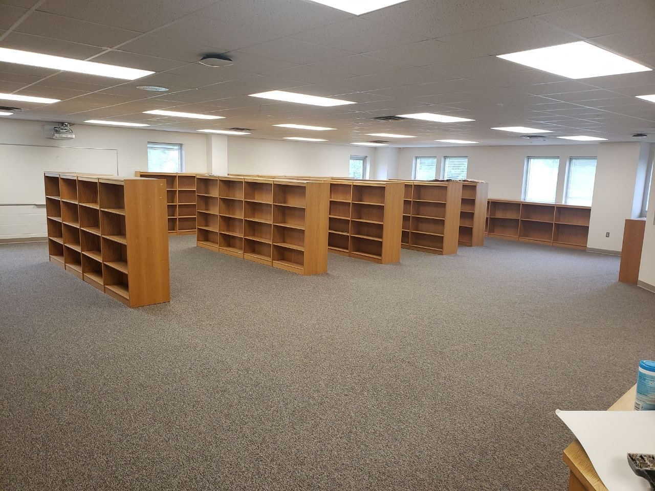 Library carpet installation in Mt. Juliet, TN from Absolute Flooring Inc