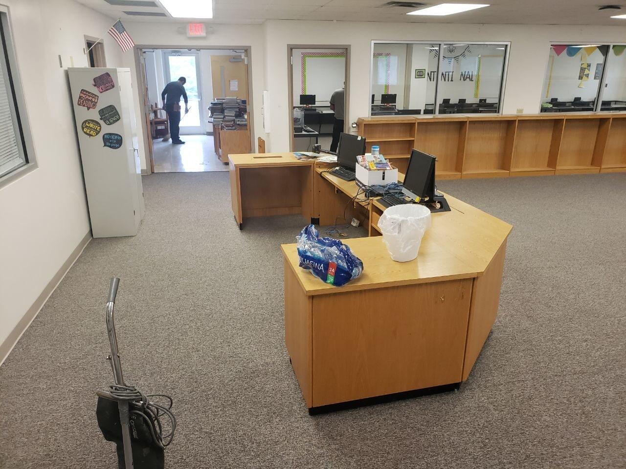Commercial flooring job in Nashville, TN from Absolute Flooring Inc
