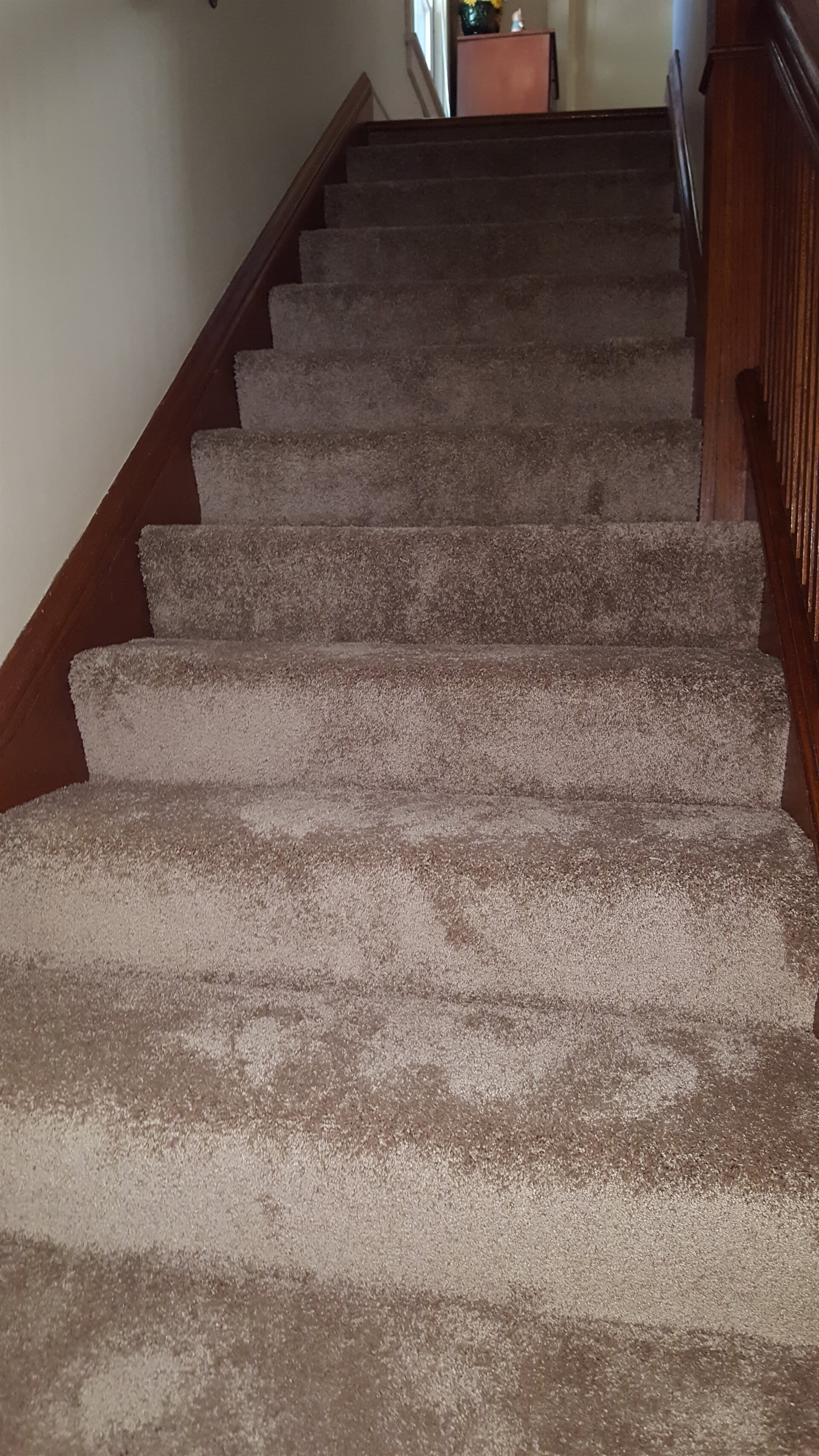 Classic carpeted stairs in Lemont, IL from Marchio Tile & Carpet Inc.