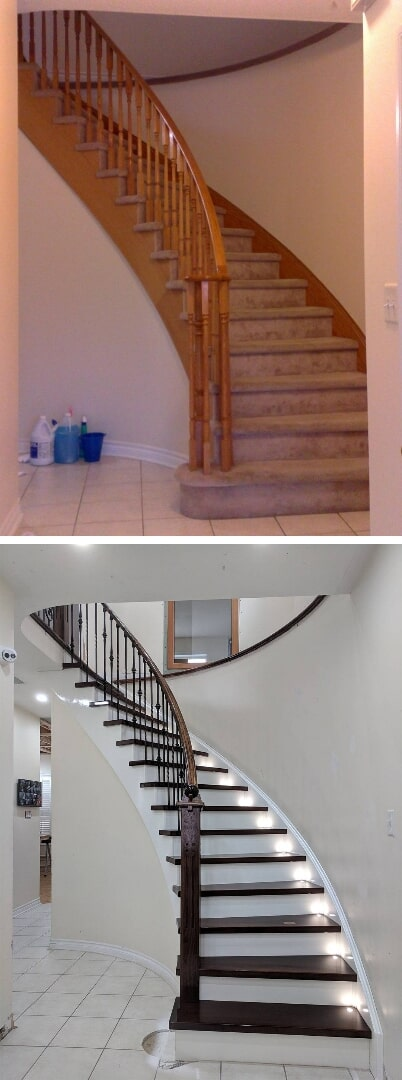 Stair remodel in Orleans, ON from Advantage Flooring