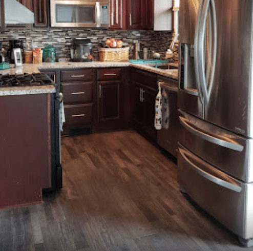 Wood look kitchen flooring in Olmsted Falls, OH from The Floor King