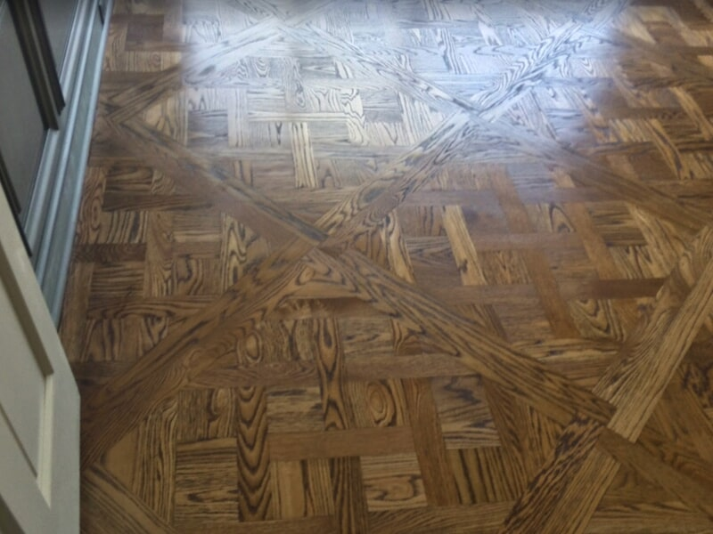 Geometric wood flooring design in New Orleans, LA from Ron-Del Flooring Services Inc.