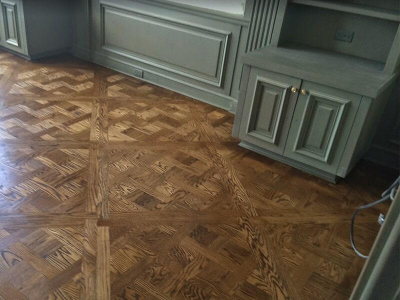 Custom wood flooring design in River Ridge, LA from Ron-Del Flooring Services Inc.