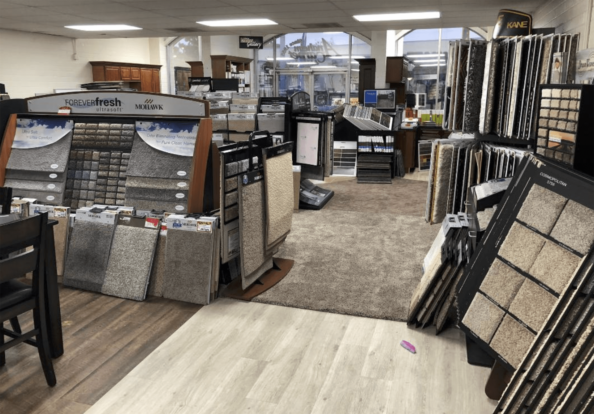 Our flooring options even cover our own floors at Anaheim Carpet and Flooring