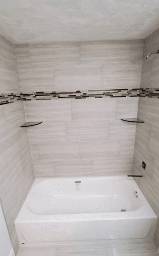 Marble tile shower in Green Cove, FL from KLC Floors