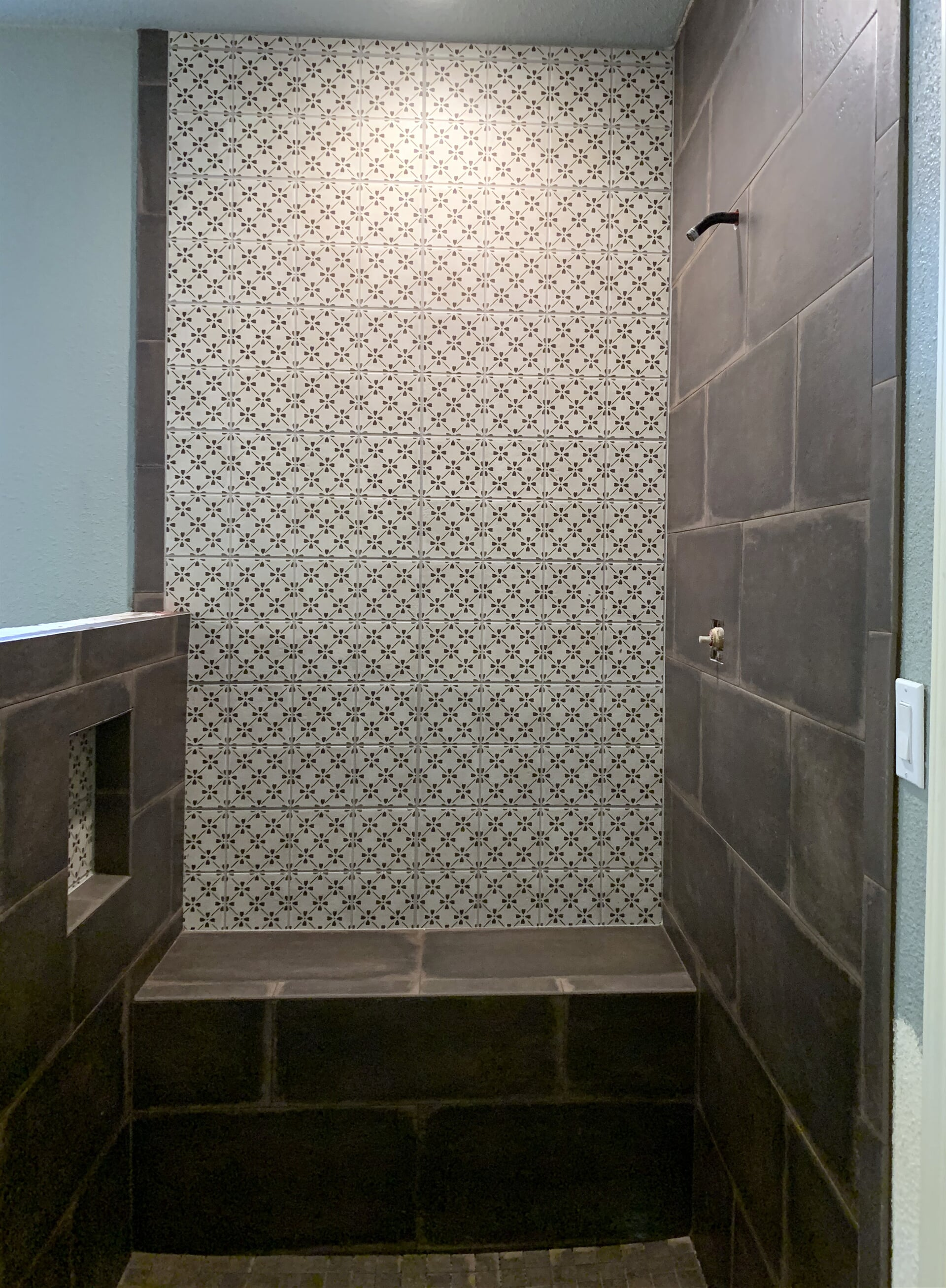 Custom shower install in Port Neches, TX from Odile's Fine Flooring & Design