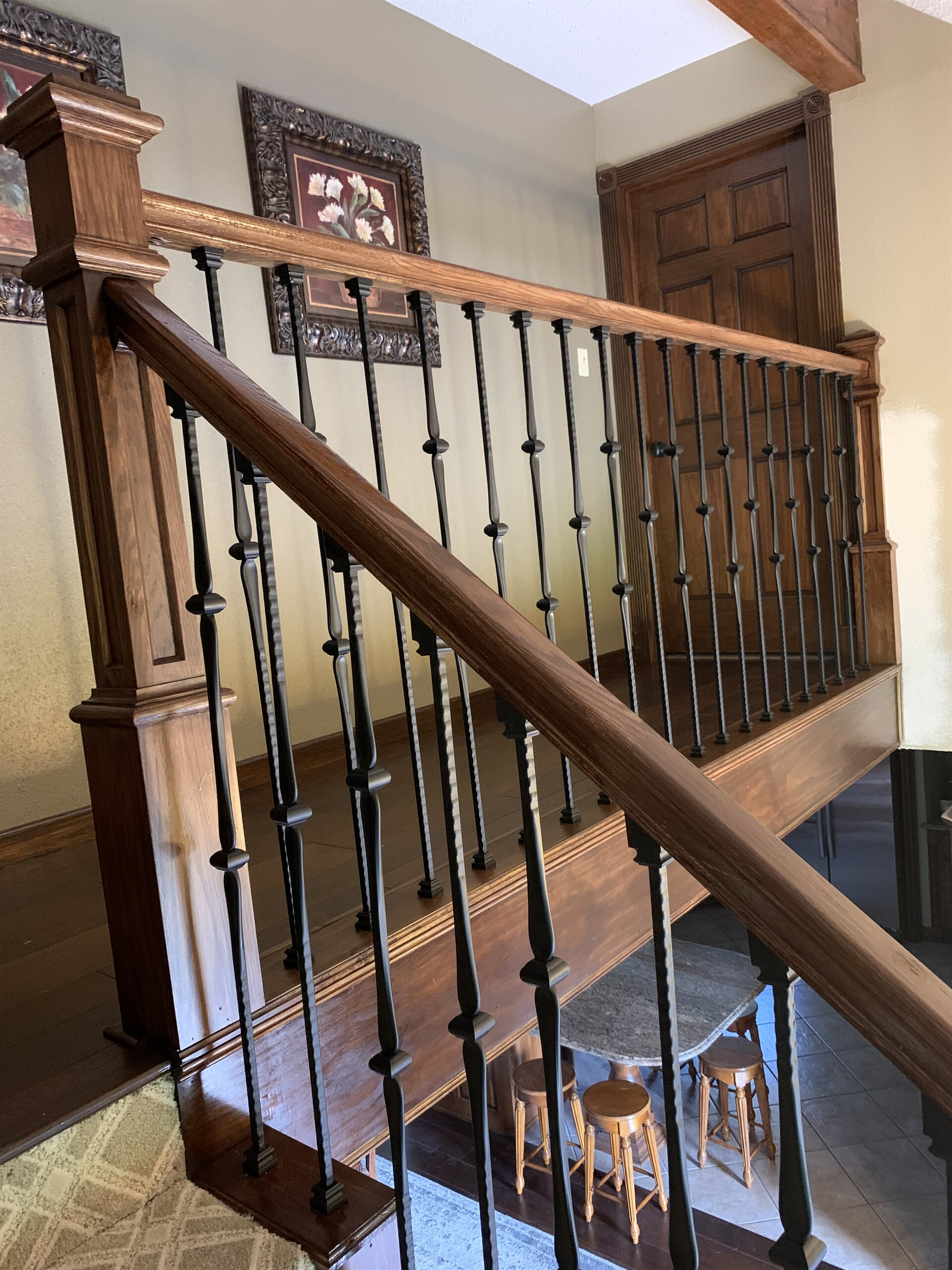 Stair railing installation in Orange, TX from Odile's Fine Flooring & Design