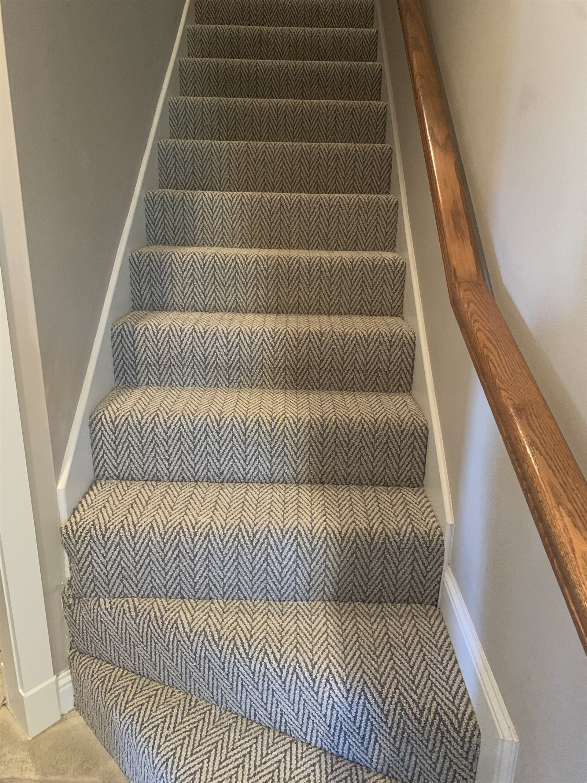 Textured stair carpet in Beaumont, TX from Odile's Fine Flooring & Design