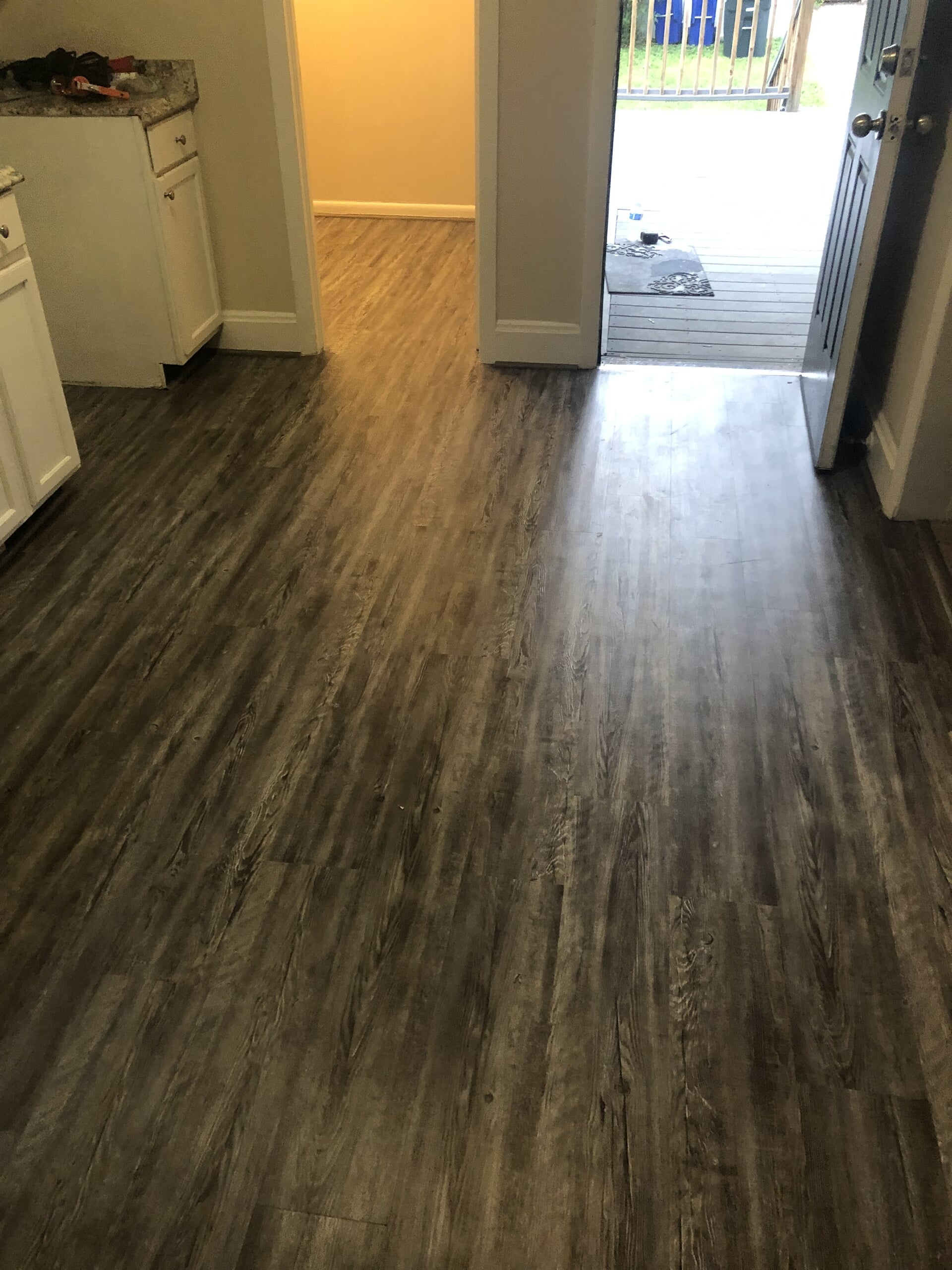 Dark grey wood floors in Montgomery County, MD from Andonian's Carpet Warehouse
