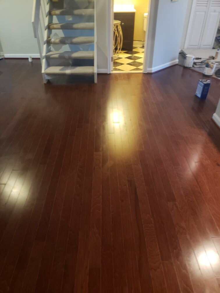 Dark hardwood flooring in Baltimore, MD from Andonian's Carpet Warehouse