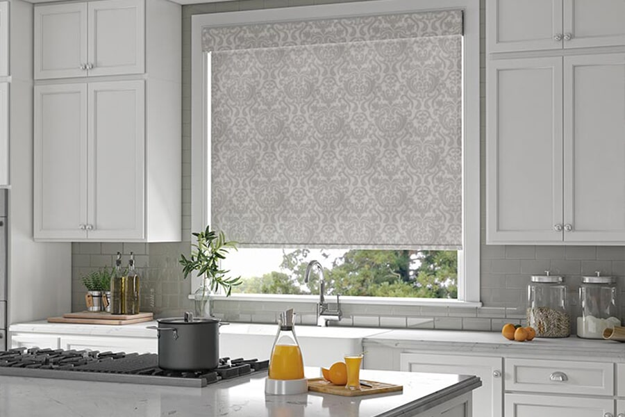 Patterned window shades in Port Neches, TX from Odile's Fine Flooring & Design