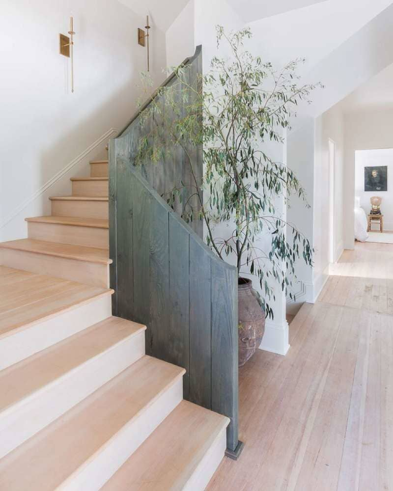 Stairway with beautiful light tone hardwood available in Stamford, CT