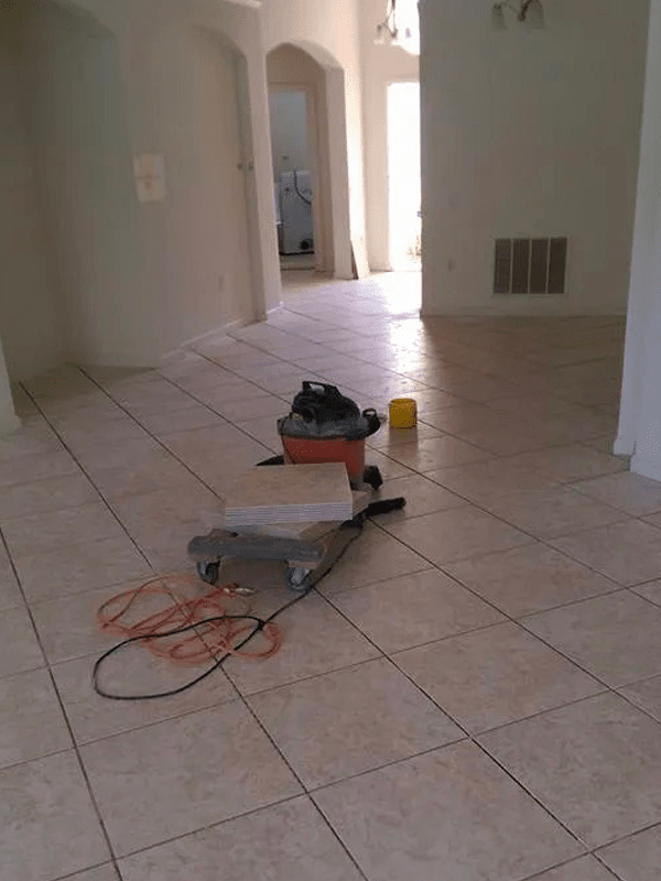 Professionally installed tile in Kissimmee, FL from The Carpet and Tile Center Inc.