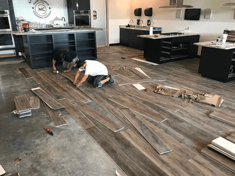 Commercial flooring installation in Hunters Creek, FL from The Carpet and Tile Center Inc.