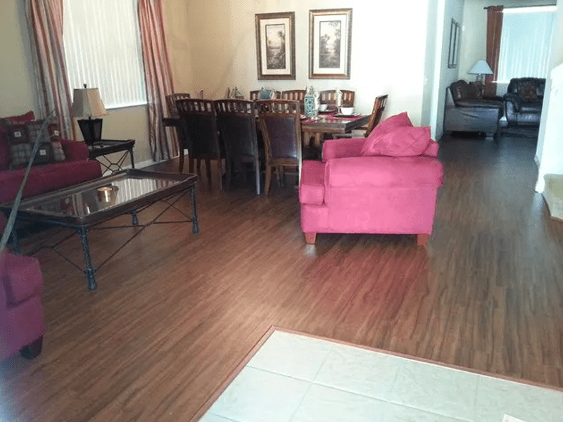 Modern wood look flooring in Hunters Creek, FL from The Carpet and Tile Center Inc.