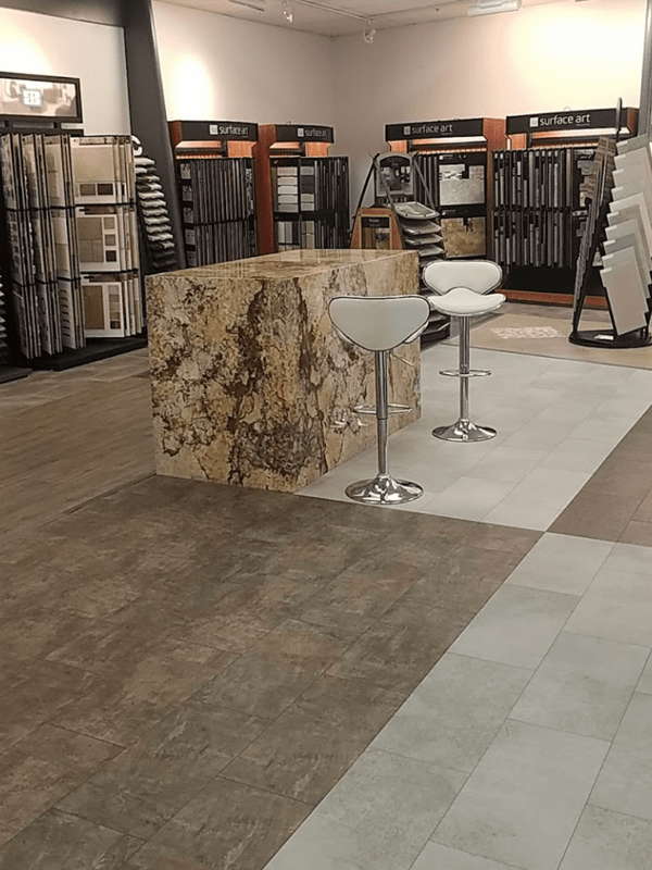 Tile flooring from the Brothers Flooring showroom in Coeur d'Alene, ID