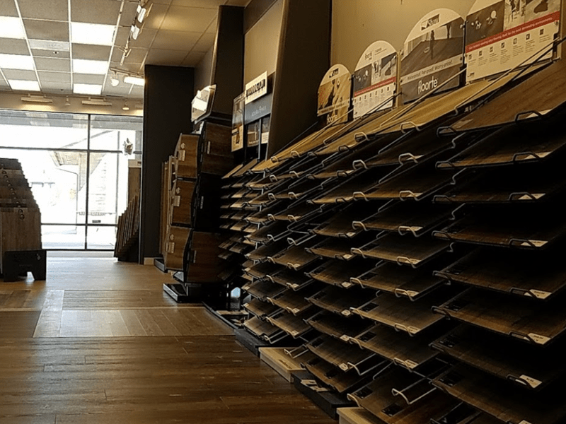 Hardwood flooring from the Brothers Flooring showroom in Hayden, ID