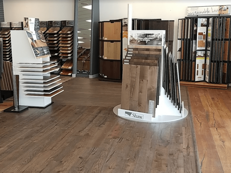 Hardwood flooring from the Brothers Flooring showroom in Spokane Valley, WA