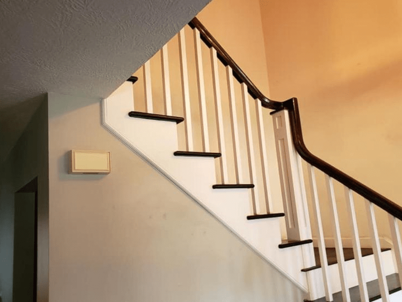 Wood stairs from Brothers Flooring in Post Falls, ID