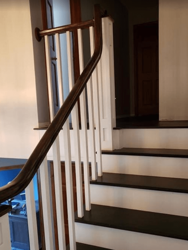 Hardwood stairs from Brothers Flooring in Hayden, ID