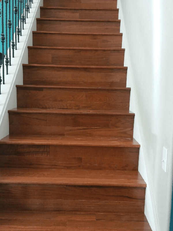 Wood stairs from Brothers Flooring in Deer Park, WA