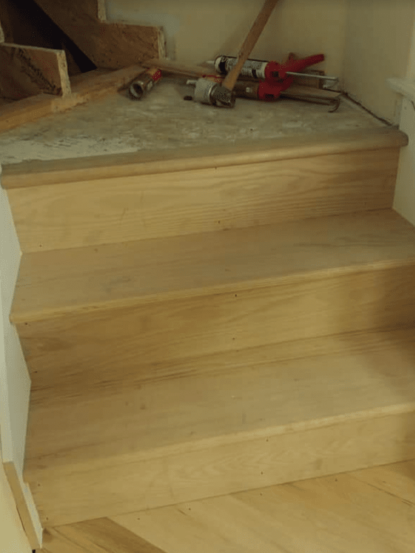 Wood stairs from Brothers Flooring in Hayden, ID