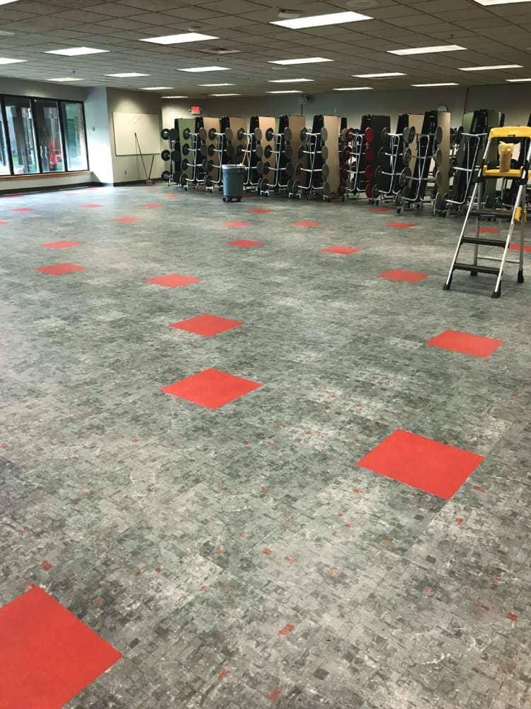 Gym flooring in South Dakota from Hiller Stores