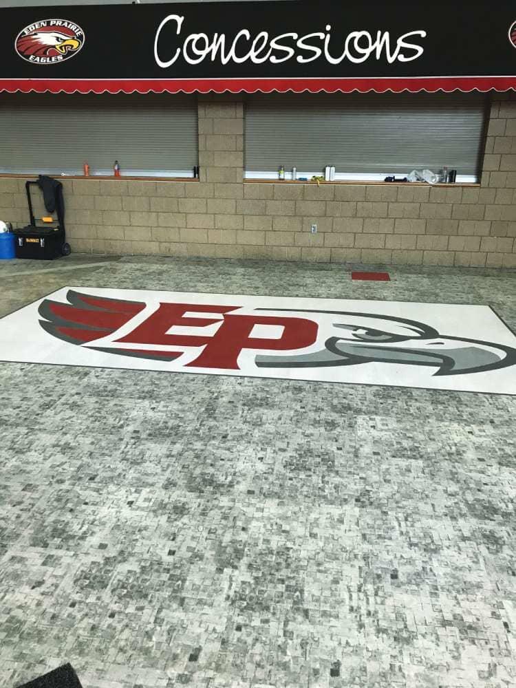 Eden Prairie High School flooring installation from Hiller Stores