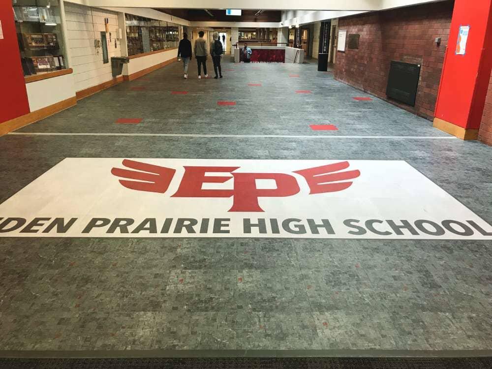 High school flooring installation in Wisconsin from Hiller Stores