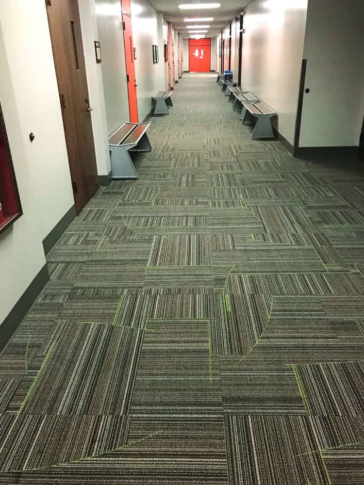 Custom commercial flooring in Iowa from Hiller Stores