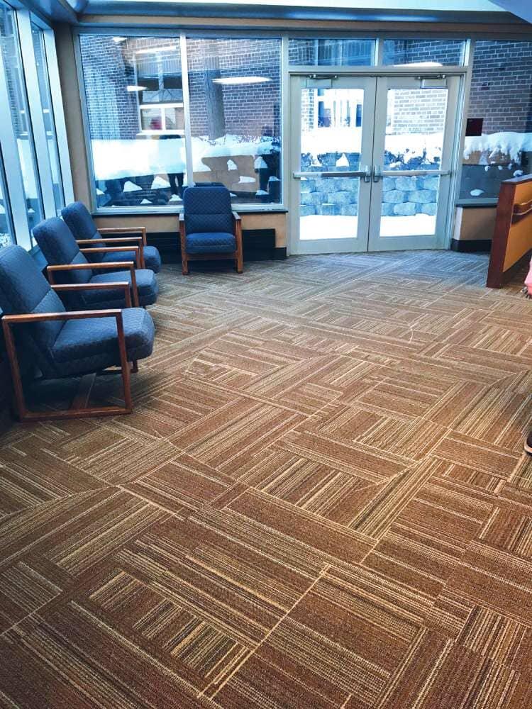 Waiting room flooring in North Dakota from Hiller Stores