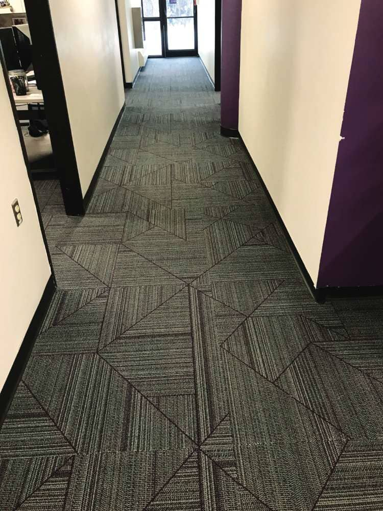 Geometric carpet tile in Wisconsin from Hiller Stores