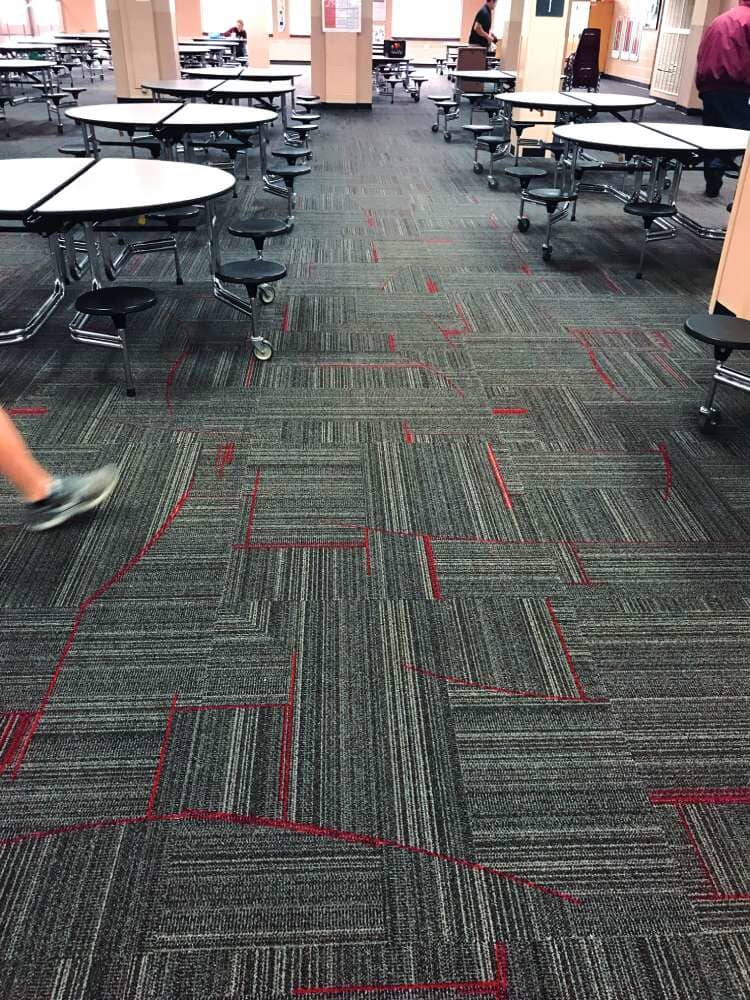 Lunch room flooring installation in Minnesota from Hiller Stores