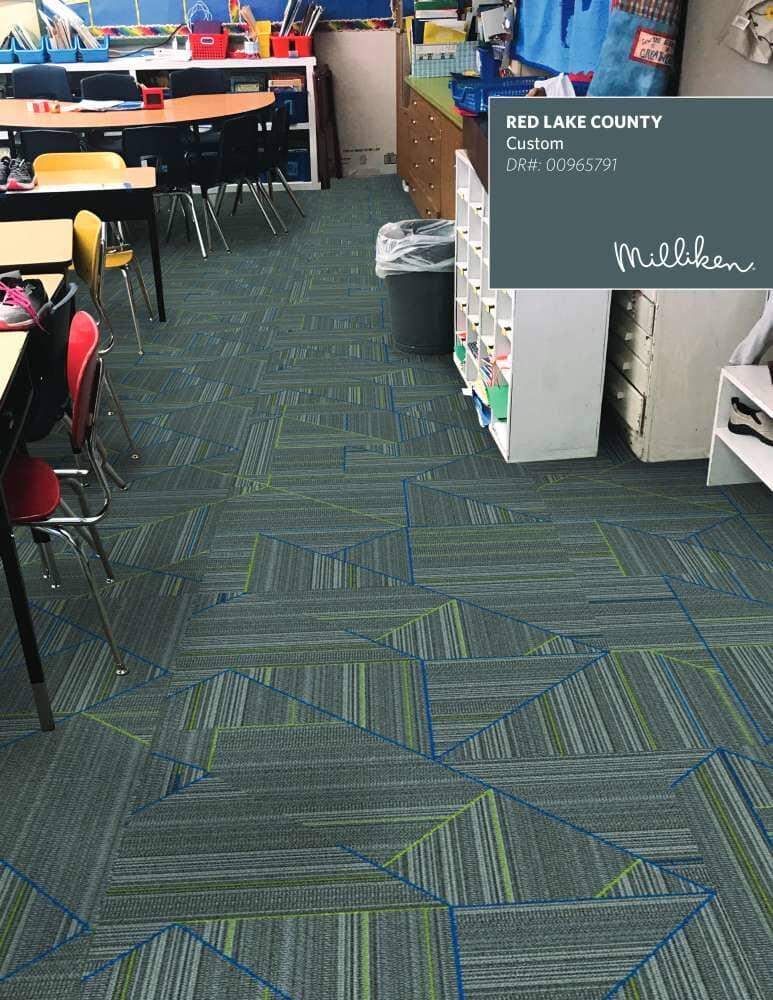 Classroom flooring installation in Wisconsin from Hiller Stores
