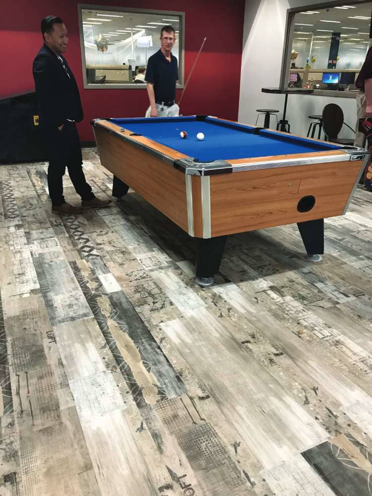 Wood look commercial flooring in South Dakota from Hiller Stores