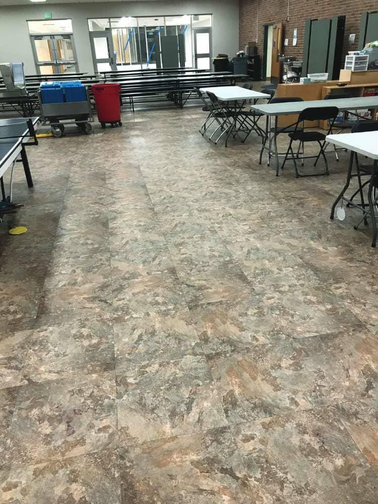 Vinyl commercial flooring in Iowa from Hiller Stores