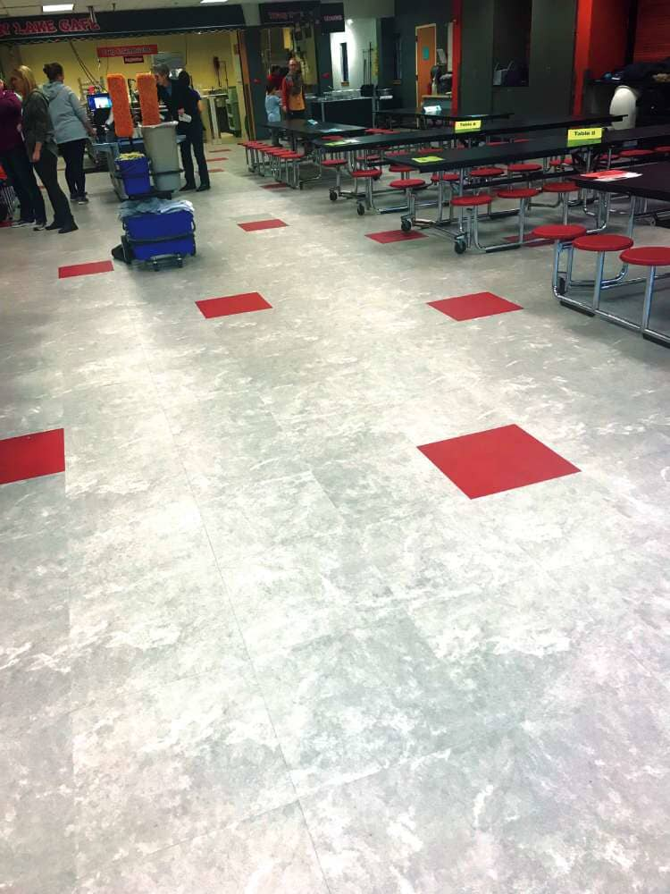 Durable cafeteria flooring in Minnesota from Hiller Stores