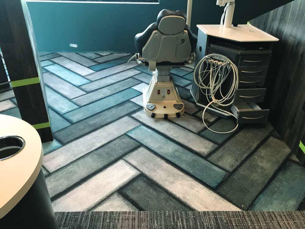 Dentistry flooring installation in South Dakota from Hiller Stores