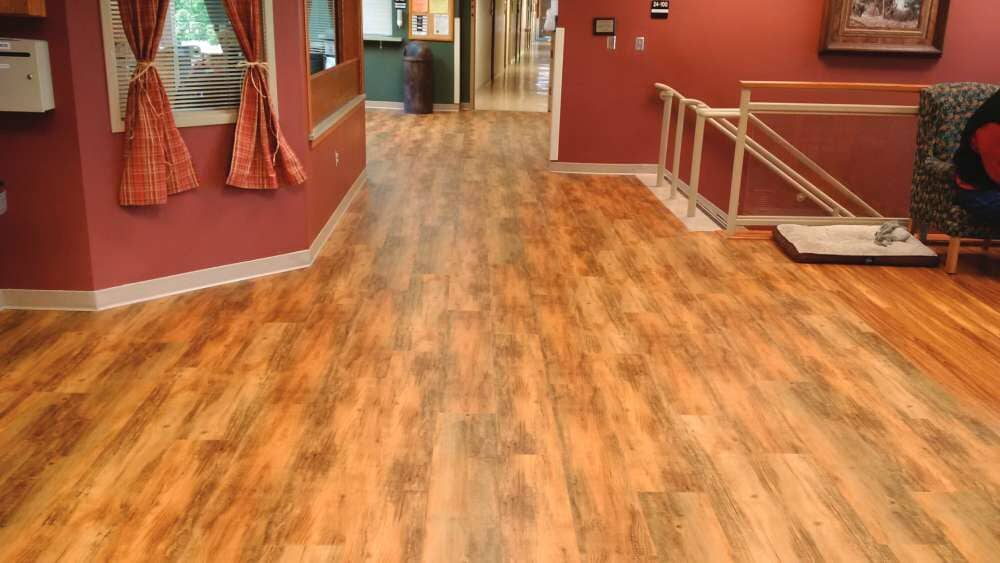 Commercial vinyl with a wood look in Wisconsin from Hiller Stores