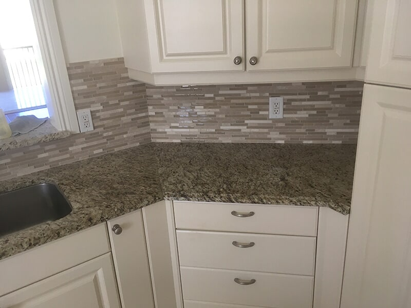Kitchen backsplash in Lee County, FL from Classic Floors & Countertops