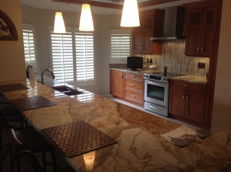 Kitchen remodel in Lee County, FL from Classic Floors & Countertops